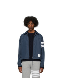 Thom Browne Navy Flyweight Windbreaker Jacket