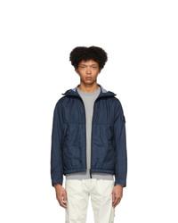 Stone Island Navy Nylon Hooded Jacket