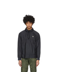 Stone Island Navy Nylon Metal Jacket