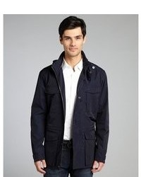 Prada Navy Nylon Stow Away Hood Windbreaker