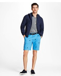 Brooks Brothers Water Repellent Seersucker Windbreaker