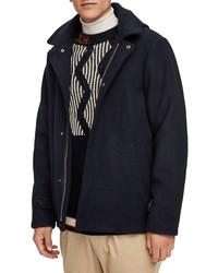Scotch & Soda Wool Hooded Jacket