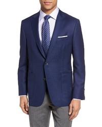 Hickey Freeman Beacon Classic B Fit Global Guardian Wool Blazer
