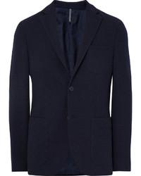 Incotex Blue Slim Fit Wool Terry Blazer
