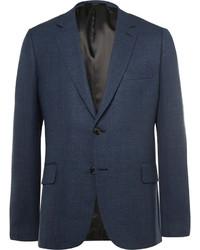 Paul Smith Blue Slim Fit Woven Wool Blazer