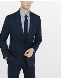 Express Classic Navy Wool Blend Twill Suit Jacket