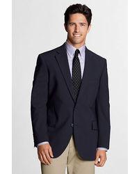 Lands' End Dress Code Washable Wool Blend Suit Coat True Navy