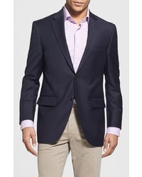 Peter Millar Flynn Classic Fit Navy Wool Blazer