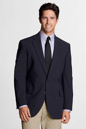 Landsu0026#39; End Dress Code Regular Logo Washable Wool Suit Coat
