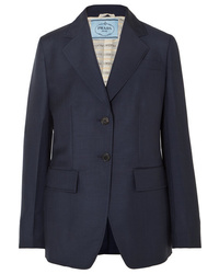 Prada Mohair And Wool Blend Blazer