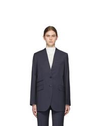 Givenchy Navy Deep V Blazer