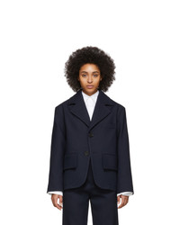 MM6 MAISON MARGIELA Navy Oversized Blazer