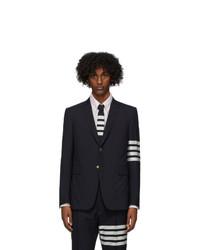Thom Browne Navy Wool 4 Bar Classic Blazer