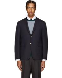 Thom Browne Navy Wool Classic Blazer