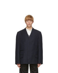 Maison Margiela Navy Wool Covert Blazer