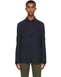 Ermenegildo Zegna Navy Wool Jersey Blazer