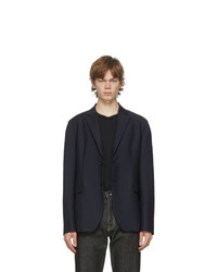 Acne Studios Navy Wool Mohair Suit Blazer