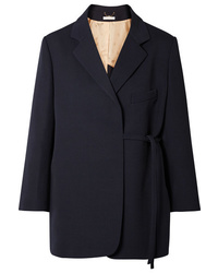 Chloé Oversized Asymmetric Wool Blend Twill Blazer