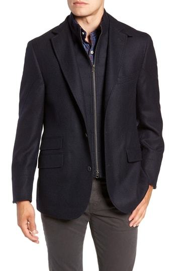 FLYNT Regular Fit Wool Cashmere Hybrid Sport Coat