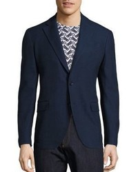 Salvatore Ferragamo Slim Fit Deconstructed Wool Blazer