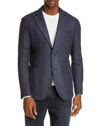 Eleventy Slim Fit Solid Wool Blend Sport Coat