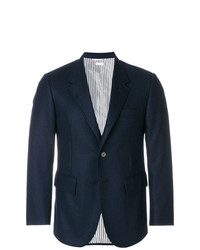 Thom Browne Solid Wool Flannel Wide Lapel Sport Coat