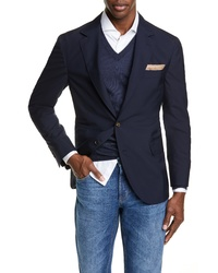 Brunello Cucinelli Trim Fit Solid Travel Blazer