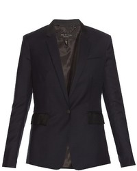 Rag & Bone Windsor Single Breasted Wool Blazer
