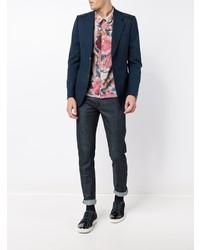 Gucci Wool Blend Blazer Blue