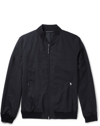 Ermenegildo Zegna Leather Trimmed Trofeo Wool Bomber Jacket