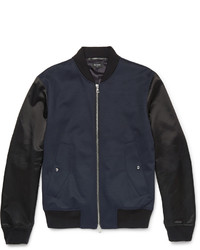 Paul Smith Ps By Panelled Wool Blend Bomber Jacket
