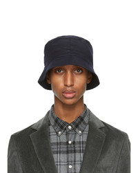 Officine Generale Navy Wool Bucket Hat