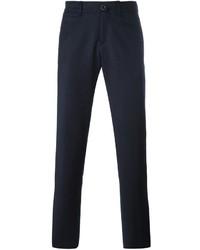 Navy Wool Chinos