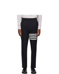 Thom Browne Navy 4 Bar Back Trousers