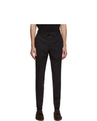 Z Zegna Navy Elastic Waist Dress Trousers
