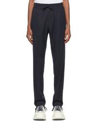 Versace Navy Elasticized Trousers