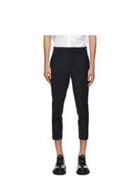 Neil Barrett Navy Horizontal Zip Trousers