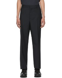Valentino Navy Mohair Wool Trousers