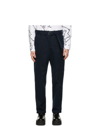 Neil Barrett Navy One Pleat Trousers