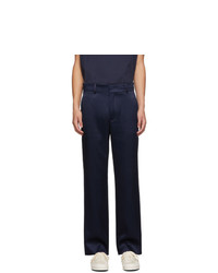 Sies Marjan Navy Satin Trousers