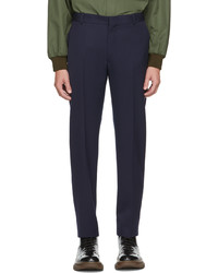 Alexander McQueen Navy Sustainable Cavalry Twill Trousers
