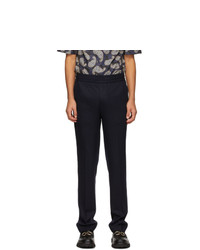 Salvatore Ferragamo Navy Trousers