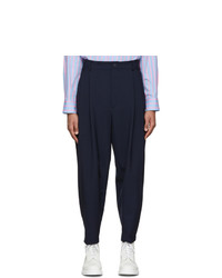 House Of The Very Islands Navy Wool Overdrive Trousers