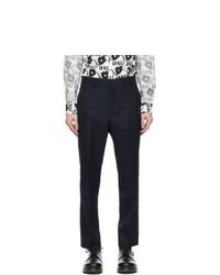 Comme des Garcons Homme Deux Navy Wool Serge Trousers