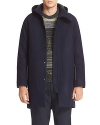 Acne Studios Milton Raw Cut Wool Hooded Coat