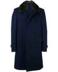 Fendi Mink Fur Collar Coat