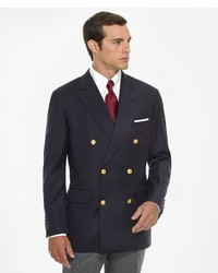 Brooks Brothers Country Club Double Breasted Navy Blazer