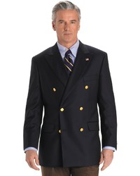 Brooks Brothers Country Club Saxxon Wool Double Breasted Blazer