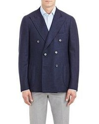 Isaia Double Breasted Cortina Sportcoat Blue