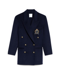 Sandro Double Breasted Wool Blazer